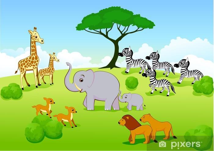 Carta Da Parati Animalier.Carta Da Parati In Vinile Animalier Safari