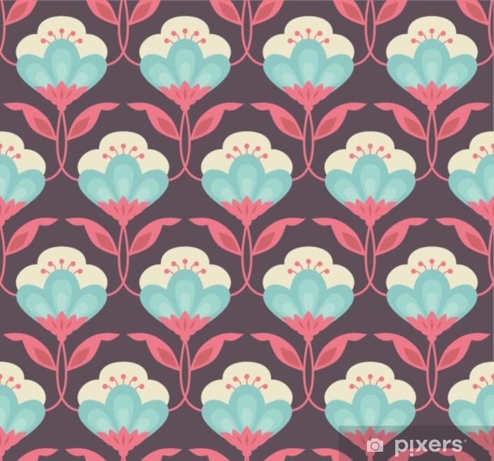 Fototapeta winylowa Bez szwu retro kwiatowy wzór - Zasoby graficzne