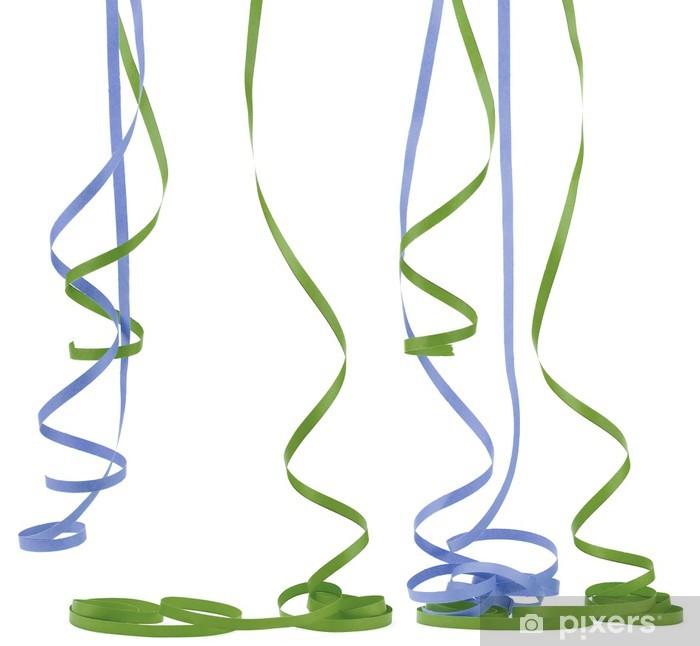 Papier peint image d 39 un serpentin de f te cotillons sur fond blanc pixers nous vivons pour - Image cotillons fete ...