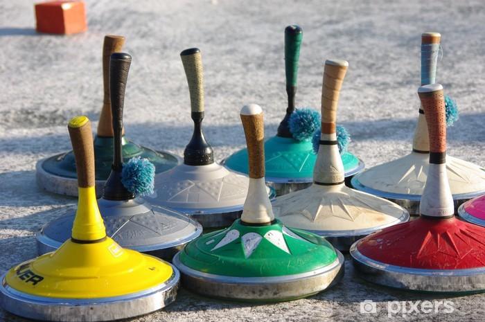 Carta da Parati in Vinile Arricciacapelli - Sport invernali
