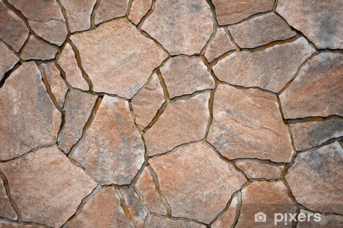 Sticker Pixerstick Hintergrund aus Pflastersteinen, Natursteine unregelmäßige - Thèmes