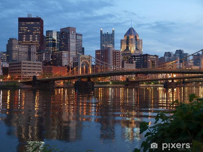 Papier peint vinyle Pittsburgh et la rivière Ohio - Amérique