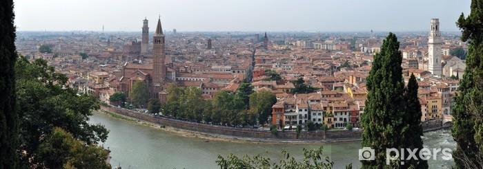 Sticker Pixerstick Panorama von Verona - Europe