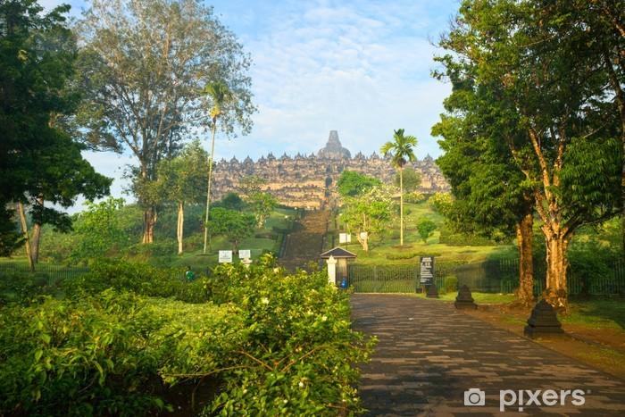 Borobudur Temple, Yogyakarta, Java, Indonesia. Vinyl Wall Mural - Asia