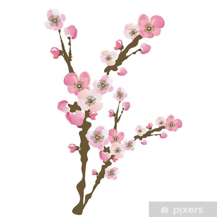 Naklejka Kwiat Wisni Pixers Zyjemy By Zmieniac