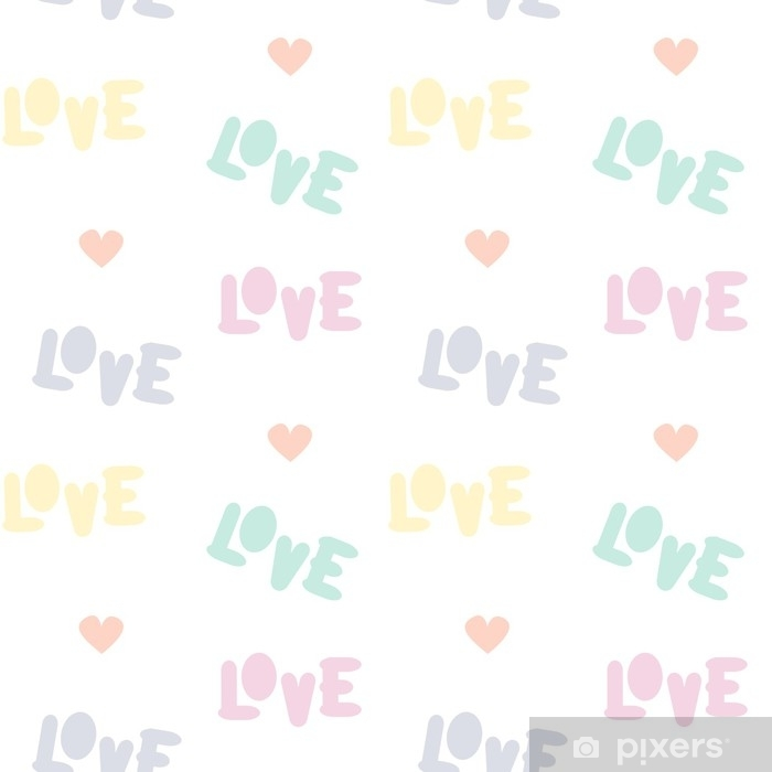 Papier Peint Illustration De Fond Coloré Mignon Amour Texte Vectorielle Continue De Fond