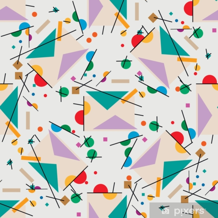 Illustration Letter. Geometric illustration of retro letter cubism supermatism. Self-Adhesive Wall Mural - Graphic Resources
