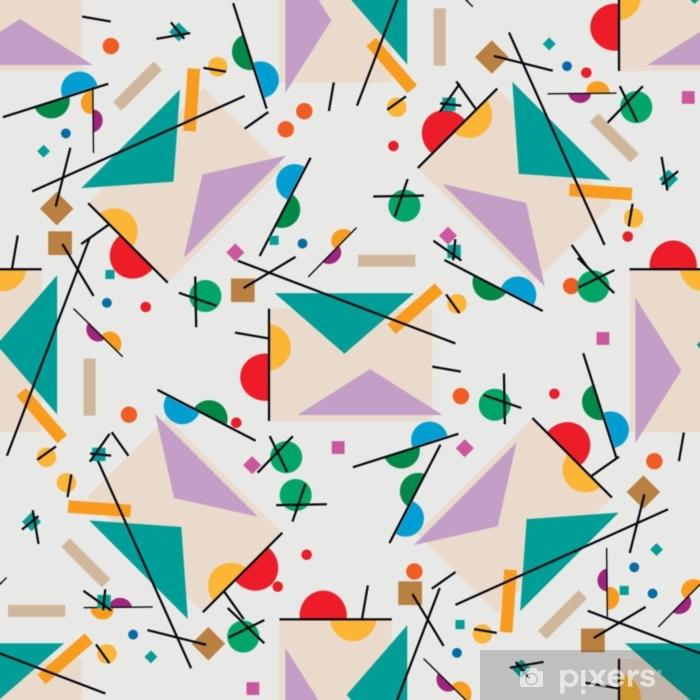 Sticker Pixerstick Lettre d'illustration. illustration géométrique du supermisme de lettre rétro cubisme. - Ressources graphiques