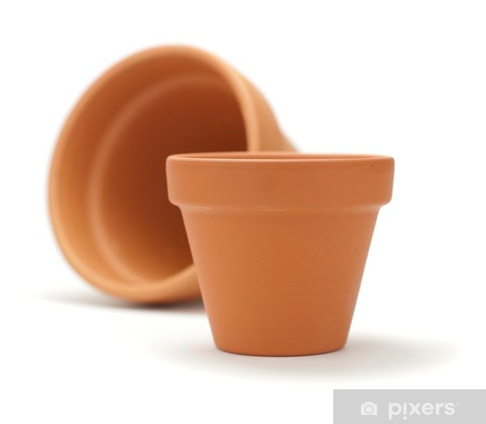 Papier Peint Pot De Fleurs En Terre Cuite Pots De Jardinage Isolé