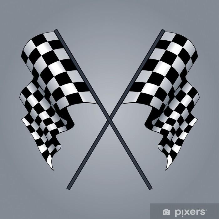 Checkered-lippu Pixerstick tarra - Themes