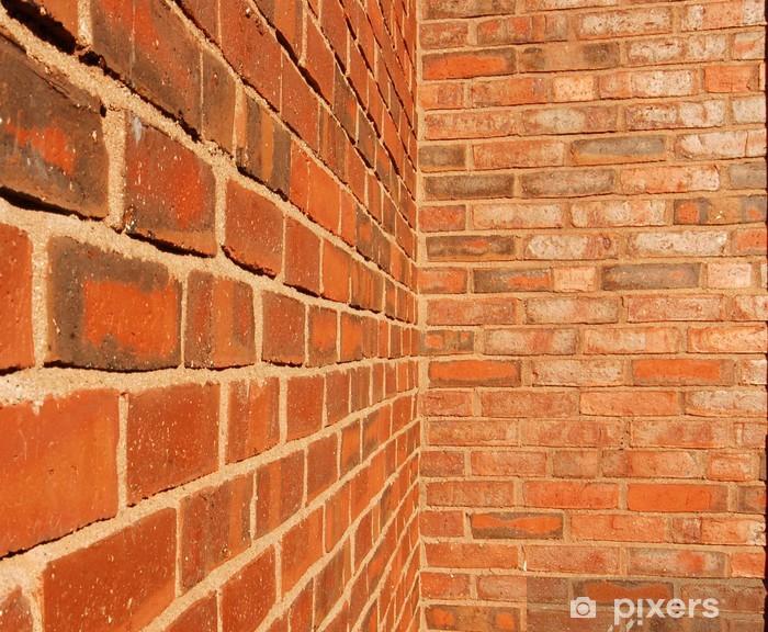 Naklejka Pixerstick Przecinające się ceglane ściany - Tekstury