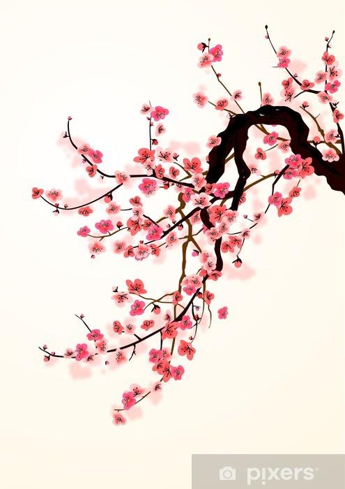 Papier peint vinyle Sakura - Styles