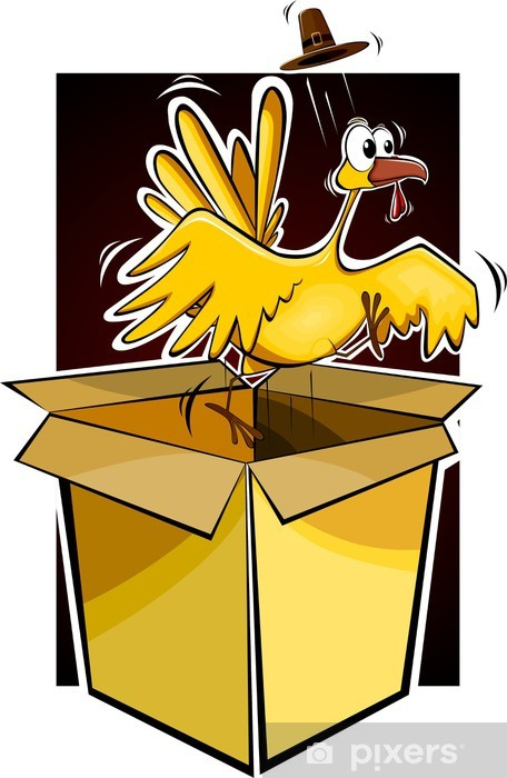 Sticker Pixerstick Illustration d'un oiseau de dessin animé turquie - Oiseaux