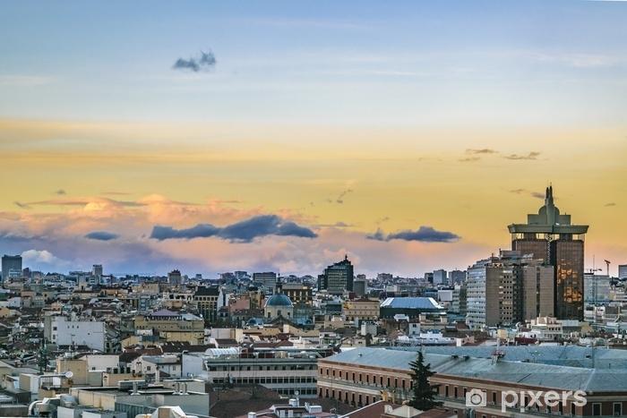 Fotomural Vista aérea paisaje urbano de madrid • Pixers® - Vivimos ...