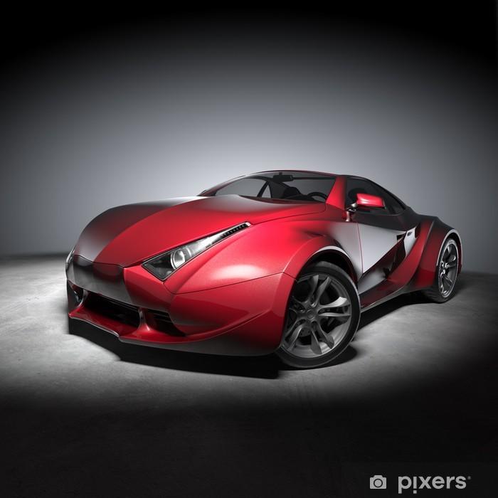 Vinyl Fotobehang Concept car - Onderweg
