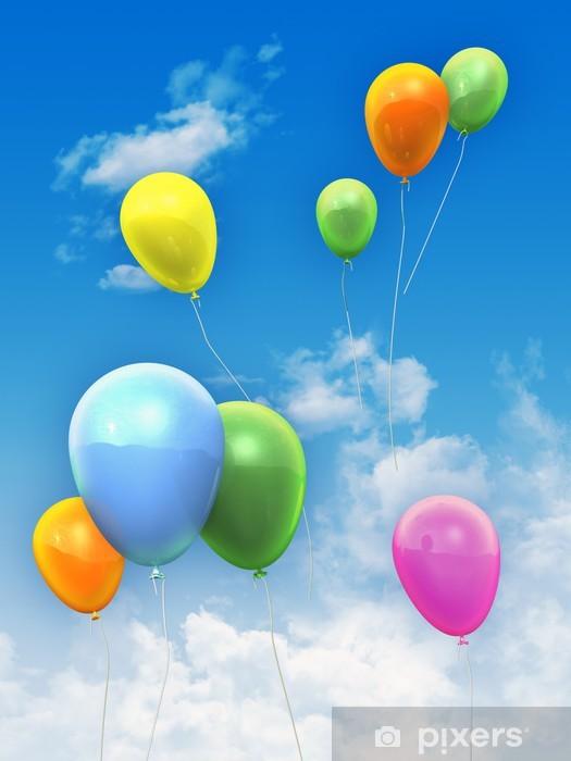 Sticker Pixerstick Ballons Dans Le Ciel - Autres sentiments