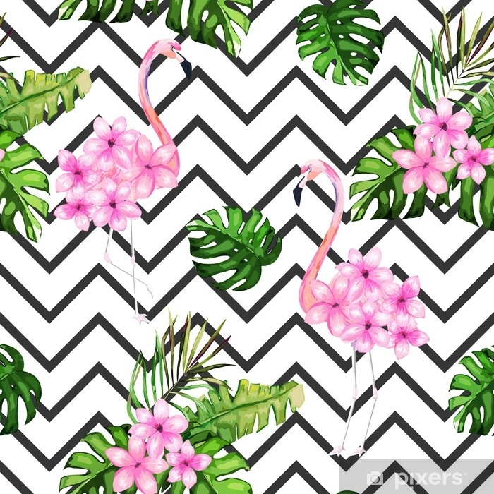 Exotic Summer Print Seamless Pattern With Tropical Leaves Flowers And Flamingo Hawaii Miami Style Vector Illustration Wall Mural Pixers We Live To Change Alibaba.com offers 1,211 tropical flower products. exotic summer print seamless pattern with tropical leaves flowers and flamingo hawaii miami style vector illustration wall mural pixers we live to change