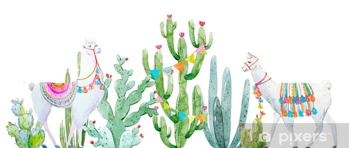 Papier Peint Composition De Cactus Aquarelle Pixers Nous Vivons