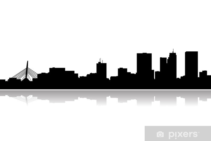 Winnipeg City Skyline Vector Wall Mural Pixers 174 We