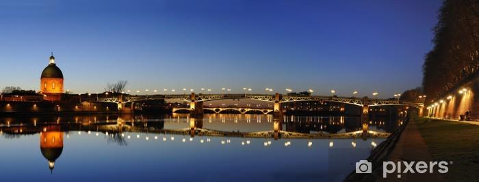 Fototapeta winylowa Panorama Saint kamienny most w Tuluzie - Tematy