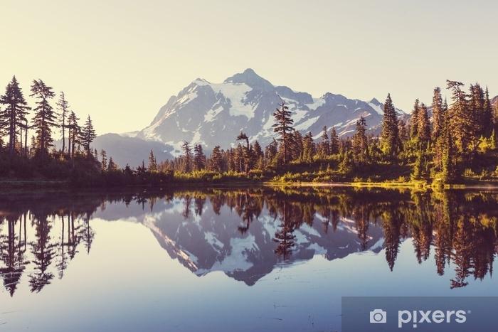 Zelfklevend Fotobehang Foto meer - Landschappen