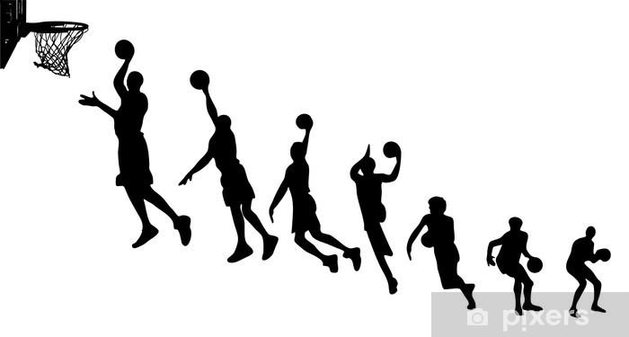 Vinylová fototapeta Basketbal sekvence siluety - Vinylová fototapeta