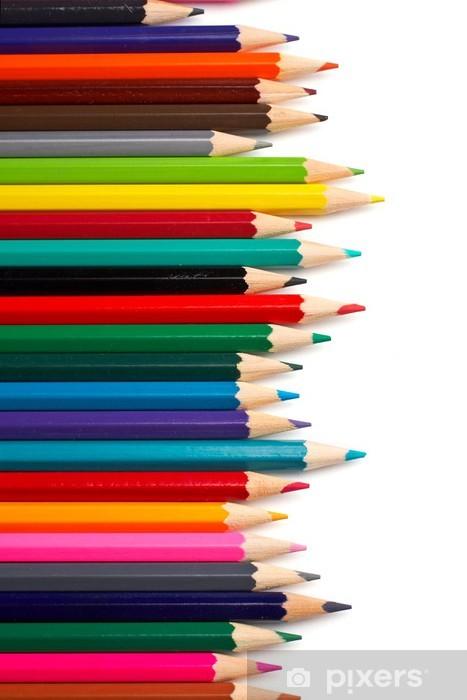 assortment of coloured pencils Vinyl Wall Mural - Wall decals