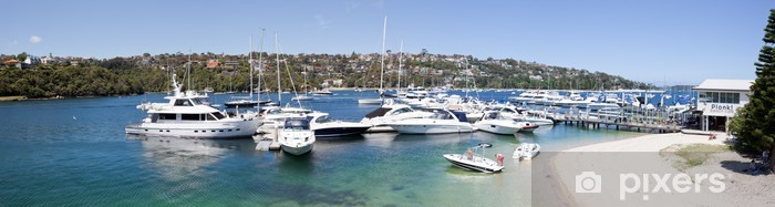 Middle Harbour Marina panorama Pixerstick Sticker - Oceania