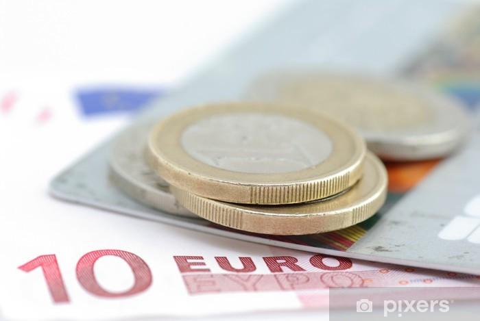 Papier peint vinyle Carte euro - Finance