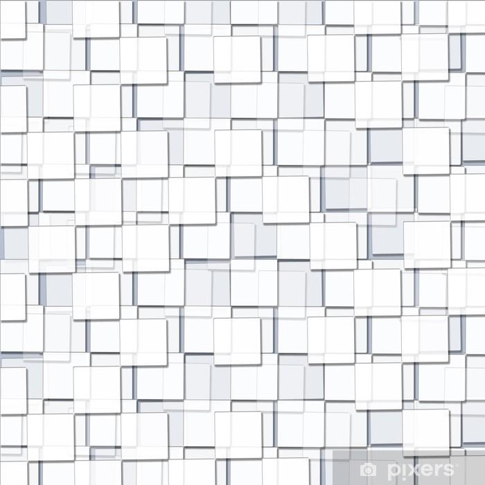 Poster Abstrakter Hintergrund mit kubischen weißen Blöcken - Grafische Elemente