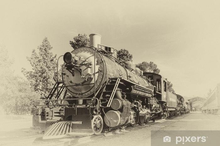 Carta da Parati in Vinile Il vecchio treno in stile vintage - Trasporti