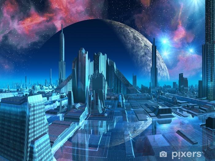 Fototapeta winylowa Wodnik Marina City - Przestrzeń kosmiczna