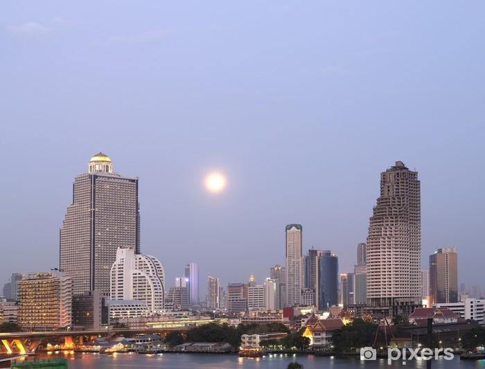 Vinyl-Fototapete Nachtansicht von Bangkok - Stadt
