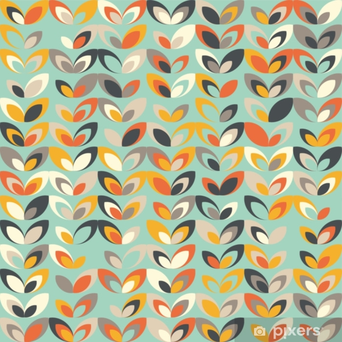 wall murals midcentury geometric retro background vintage brown orange and teal colors seamless floral mod pattern vector illustration abstract retro geometric midcentury 60s 70s background retro wallpaper.jpg