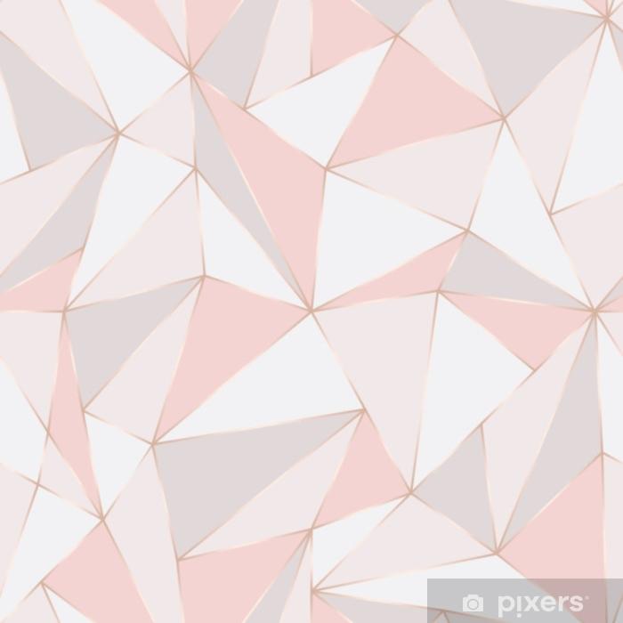 Fototapeta winylowa Geometryczny wzór. streszczenie tło wielokąta. trójkąt wektor pastelowe tło. - Zasoby graficzne