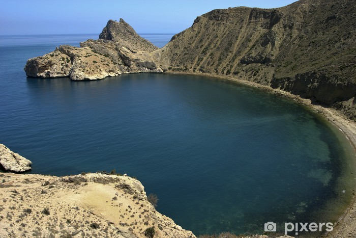 Naklejka Pixerstick Zatoka w jebha marssadar, Rif, Maroko. - Wakacje