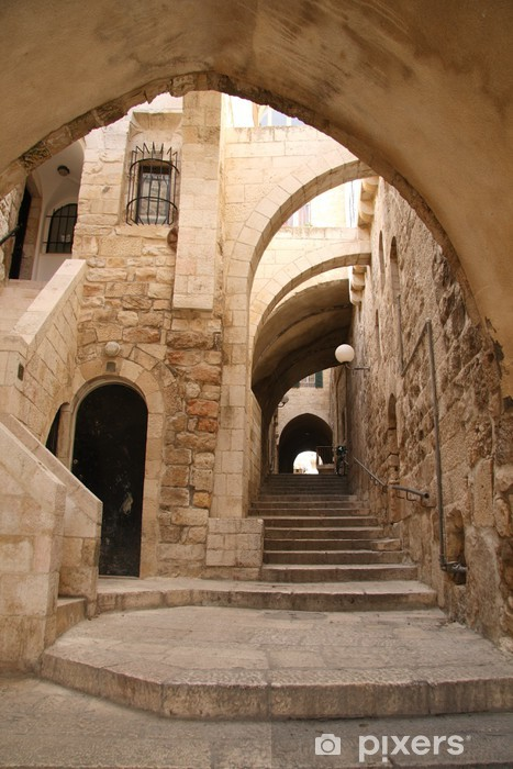 Ancient Alley in Jewish Quarter, Jerusalem Vinyl Wall Mural - Destinations