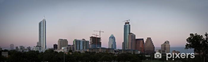 Austin, Texas Panoramic Skyline Pixerstick Sticker - Criteo