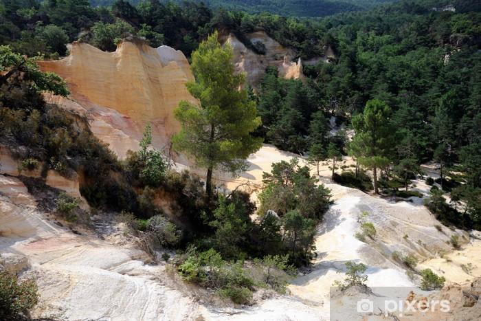 Naklejka Pixerstick Kamieniołom ochra Roussillon (Luberon) - Natura i dzicz