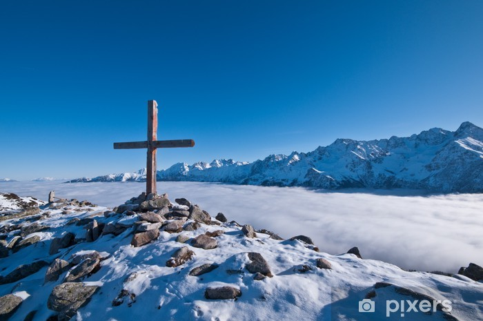 Nálepka Pixerstick Alpy - Evropa