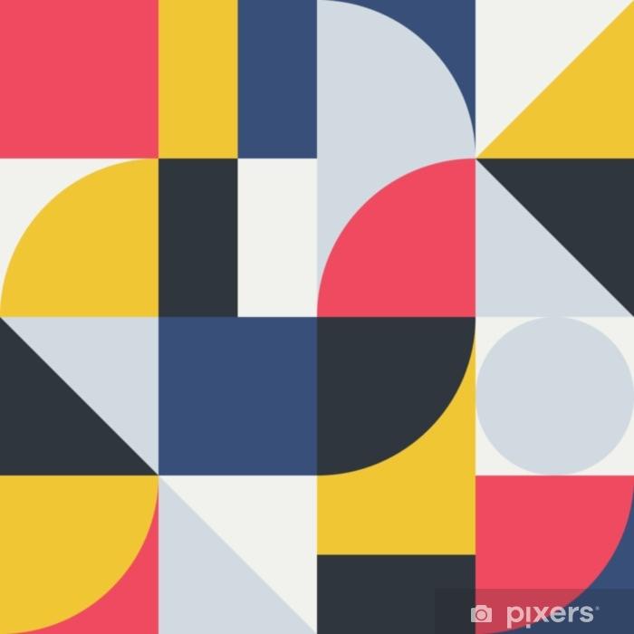 Deursticker Abstract geometrie patroonafbeelding 06 - Grafische Bronnen