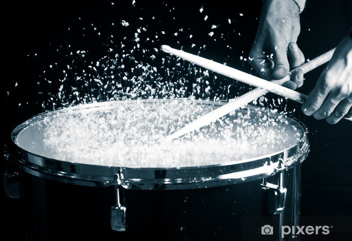 Pixerstick Sticker Drum, hand en stokken - Thema's