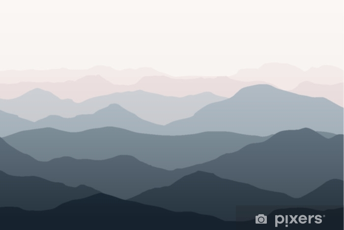 Beautiful mountains landscape. Nature background. Vector illustration for backdrops, banners, prints, posters, murals and wallpaper design. Plush Blanket - Landscapes