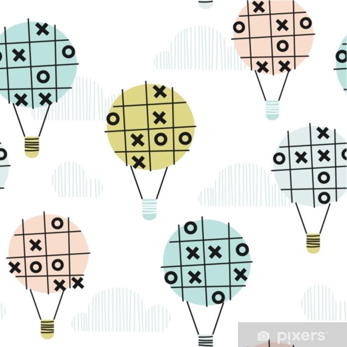 Carta da Parati in Vinile Modello senza cuciture con l'aria calda ballon nel cielo. perfetto per inviti, decorazioni, carta da parati, riempimenti a motivo, carta da regalo - Risorse Grafiche