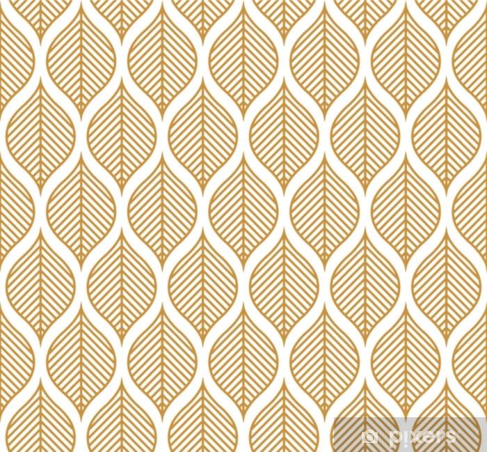 Vektor geometrisk blad sømløse mønster. abstrakte blade tekstur. Vinyl fototapet - Grafiske Ressourcer