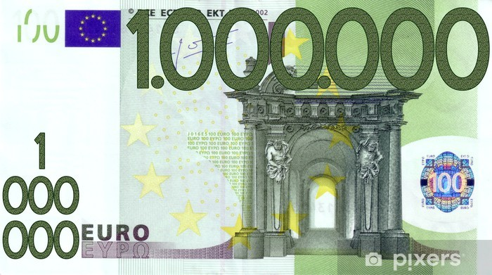 100000 Euro Million Wall Mural Pixers We Live To Change