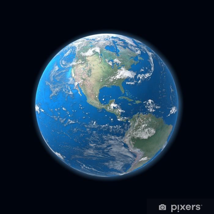 Korkea Yksityiskohtainen Maapallon Kartta Amerikka Juliste