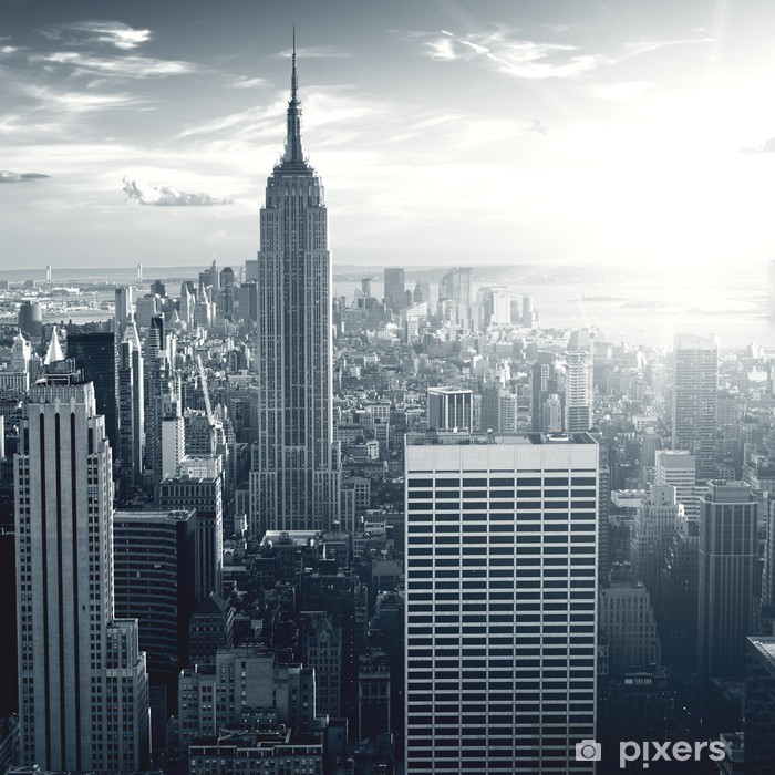 Amazing view to New York Manhattan at sunset Framed Poster - Themes