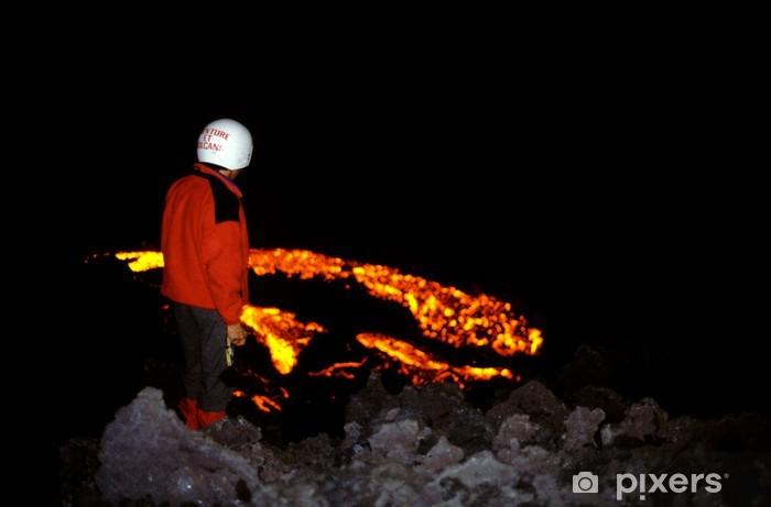 Nálepka Pixerstick Pacaya 04 - Přírodní katastrofy