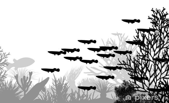 Sticker Pixerstick La vie sous-marine - Animaux marins